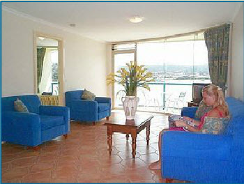 Spacious Lounge Area with LCD TV's